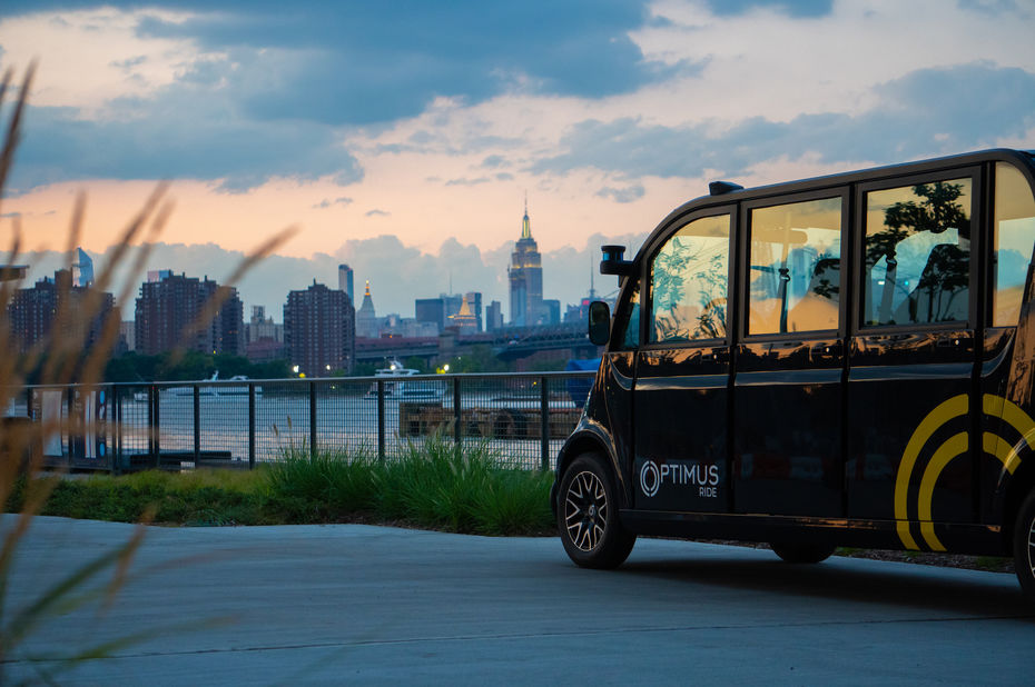 La start-up Optimus Ride déploie six navettes autonomes dans un chantier naval de Brooklyn