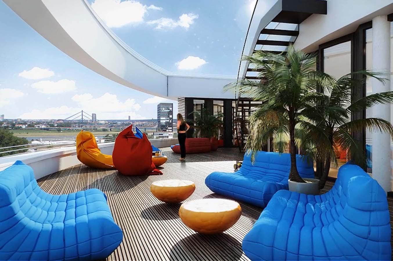des espaces de travail et de d tente inventifs en images les bureaux de trivago d sseldorf. Black Bedroom Furniture Sets. Home Design Ideas