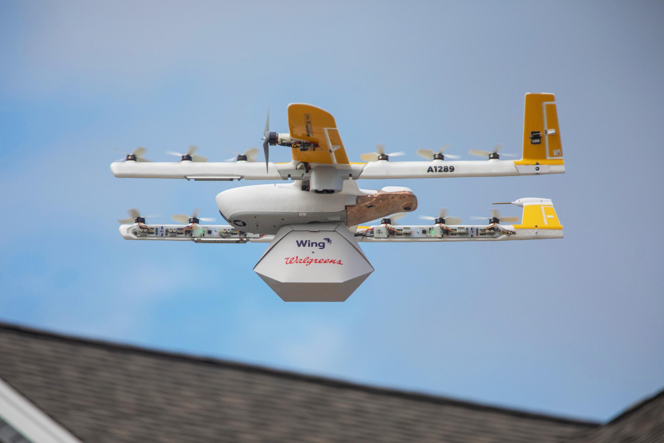 Wing (Google) devient la première entreprise à effectuer des livraisons commerciales par drone aux Etats-Unis