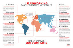 Carte : L'île-de-France, troisième zone la plus coworking-friendly du Monde