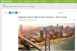 Attention LinkedIn, Glassdoor débarque à San Francisco
