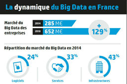 Le big data, un marché de 652 millions d'euros en France en 2018