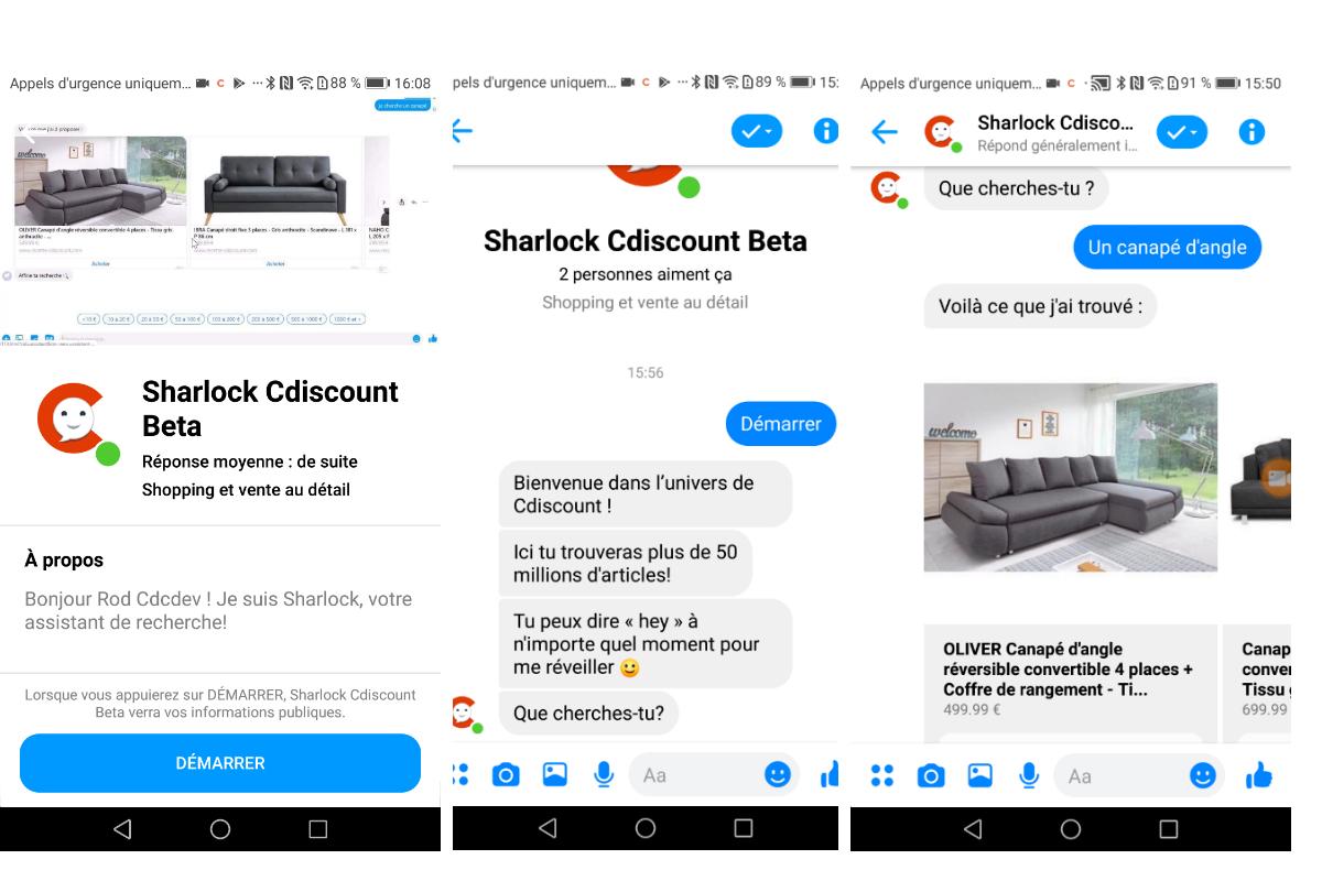 Cdiscount rend son catalogue disponible avec un chatbot Facebook Messenger